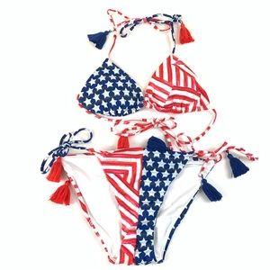 Victorias Secret Bikini Set Small Teeny Cheeky Red